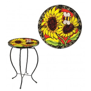 Fountasia Sunflower Glass Topped Table