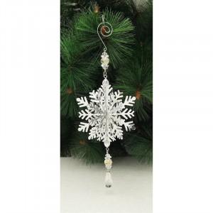 Fountasia Snowflake Tree Decoration Silver 3D