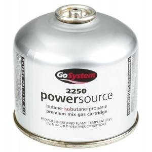 GoSystem Butane Propane Threaded Mix Gas Cartridge - Silver - 445g