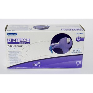 Kimberly-Clark Kimtech Nitrile Gloves Purple - Small/6.5 - Box 100