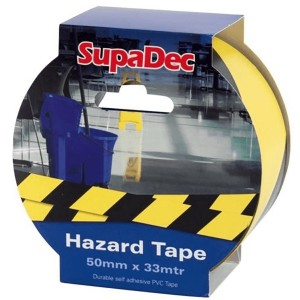 SupaDec Hazard Tape 50mm x 33 Metre