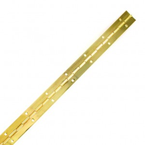 Securit Piano Hinge Brass Plated Priced Per Length