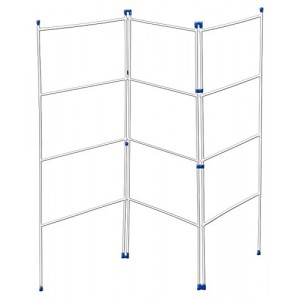 Metaltex 3-Fold 4-Bar Airer Stainless-Steel Silver