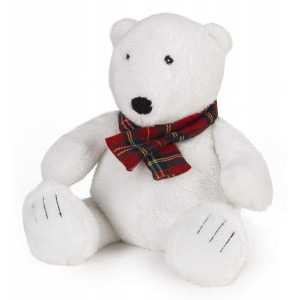 Intelex Cozy Plush Polar Bear Fully Microwavable Toy