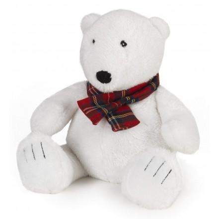 Intelex Cozy Plush Polar Bear Fully Microwavable Toy