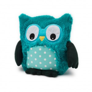 Intelex Warmies Hooty Owl Microwaveable Turquoise