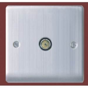 BG Nexus 1 Gang Co-Axial Socket Brushed St/Steel