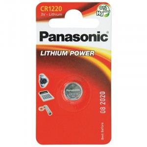 Panasonic Cr1220 Cd1 3V 12.5 x 2.0mm Lithium Battery