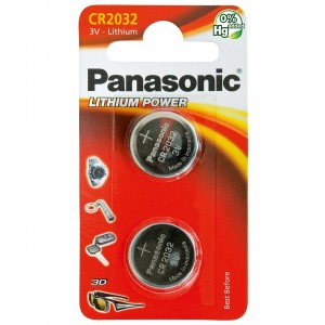 Panasonic Cell Battery CR2032 Pack 2