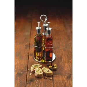 KitchenCraft World Of Flavours Italian 270ml Glass Oil And Vinegar Set