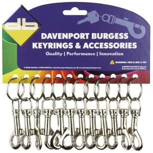 Davant Metal D Clip & Snap Hook Nickel Plated
