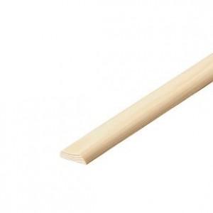 Masons Hardwood D-Shape Moulding 2.4 Metre 25 x 6mm