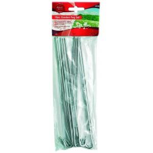 Ambassador Galvanised Steel Round Wire Tent Pegs Pack 10