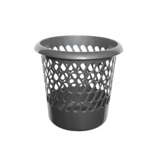 Whitefurze Waste Paper Bin - Metallic Silver