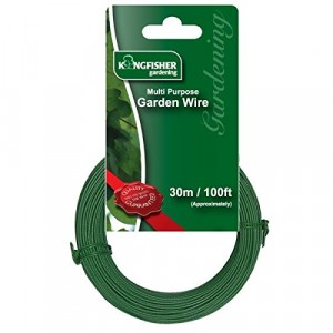 Kingfisher Multi-Purpose Garden Wire - Green 1mm x  30 Metre