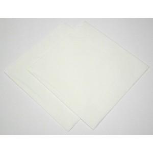 33cm x 33cm Napkins Deeptone White