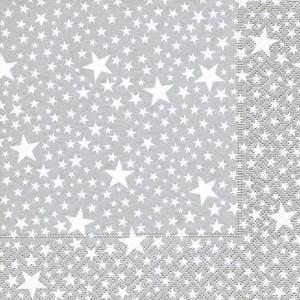 33cm x 33cm Napkins Starlets Silver