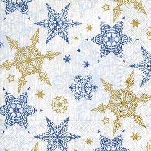 33cm x 33cm Napkins Delicate Stars Blue