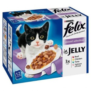 Purina Felix Mixed Selection in Jelly Wet Cat Food 12 x 100g Pouch