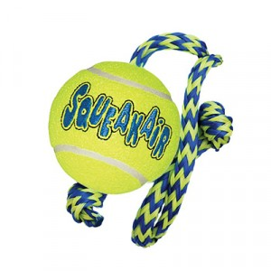 Kong Air Dog Squeakair Tennis Ball & Rope Dog Toy
