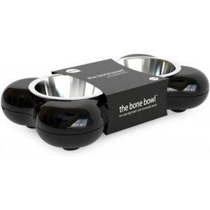 Hing Designs Bone Dog Bowl Black