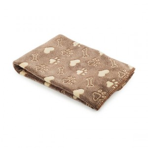 Ancol Dog Cat Blanket Brown 74 x 74cm
