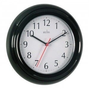 Acctim Wycombe Wall Clock Black