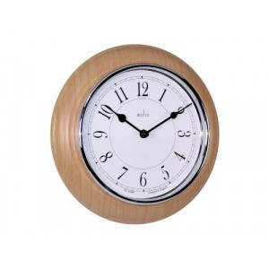Acctim Newton Light Wood Wall Clock