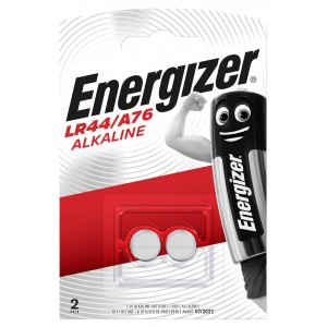 Energizer Alkaline Button Cell Battery LR44/A76 (Twin Pack)