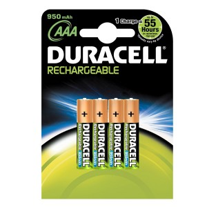 Duracell Rechargeable AAA Batteries Pack of 4