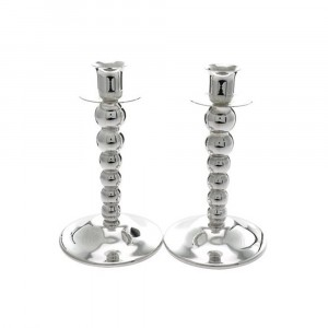 Price's Silver Plated Ball Stem Candlestick (Pair)
