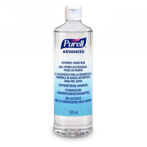 Purell Advanced Hygiene Hand Rub/Sanitiser Flip Top Bottle 500ml
