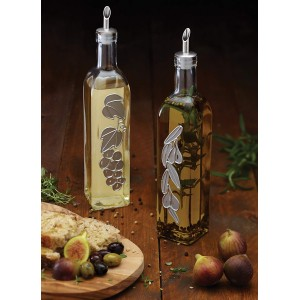 KitchenCraft World of Flavours Glass Oil & Vinegar Bottles 500ml