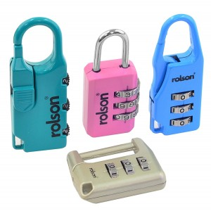 Rolson Combination Lock - 4 Pieces