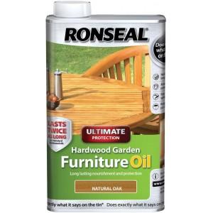 Ronseal Hardwood Furniture Oil Natural Oak 1 Litre
