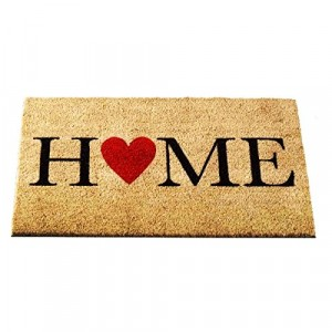 Home Is Where The Heart Is Coir Brush Doormat 75 x 45cm