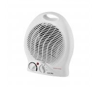 Warmlite Upright Fan Heater - Adjustable Thermostat 2kW - White e