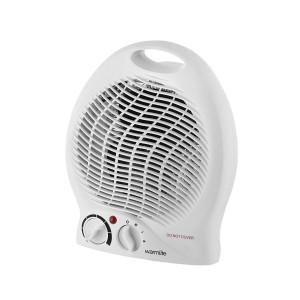 Warmlite Upright Fan Heater - Adjustable Thermostat 2kW - White e