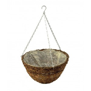 "Apollo 14"" Rattan Hanging Basket"