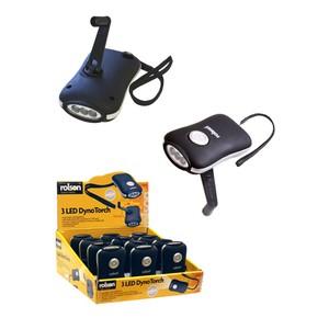 Sadolin LED Wind Up Torch 3 LED Black