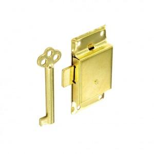 Securit Cupboard Lock 2 Keyed Brassed