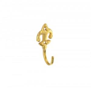 Securit Tieback Hook Brass 50mm Fleur-de-lis Pack 2