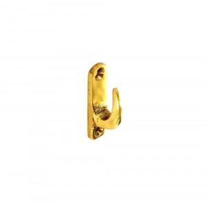 Securit Tieback Hook Brass 40mm Modern Pack 4