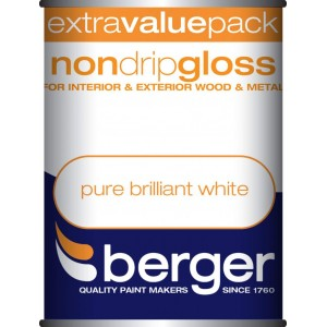Berger Non Drip Gloss Pure Brilliant White