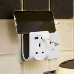 SMJ Pro Power Outlet with 2 x 2.4A Shared USB Charging