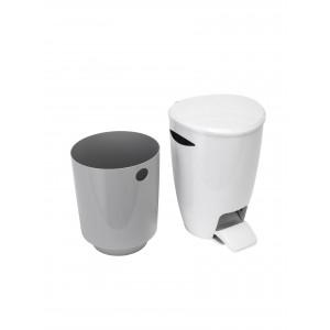 Croydex Bathroom Bin White/Grey 5 Litre
