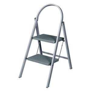 Abru 2-Tread Steel Step Stool Grey