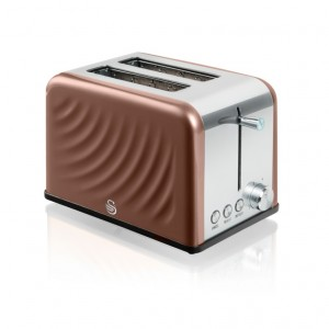 Swan Twist Copper 2 Slice Toaster