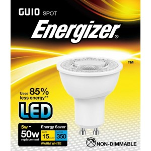 Energizer LED GU10 Warm White 350lm 3000k