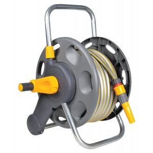 Hozelock 2 in 1 Hose Reel with 25 Metres Hose